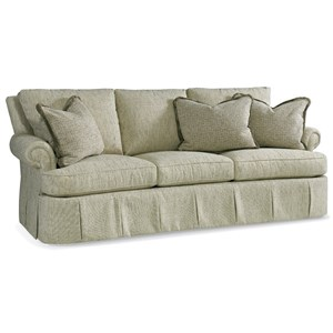 Lawson Sofa with Rolled Arms and Skirt