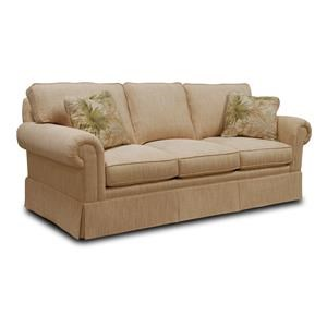Sleep Sofa with Loose Back Cushions and Rolled Arms