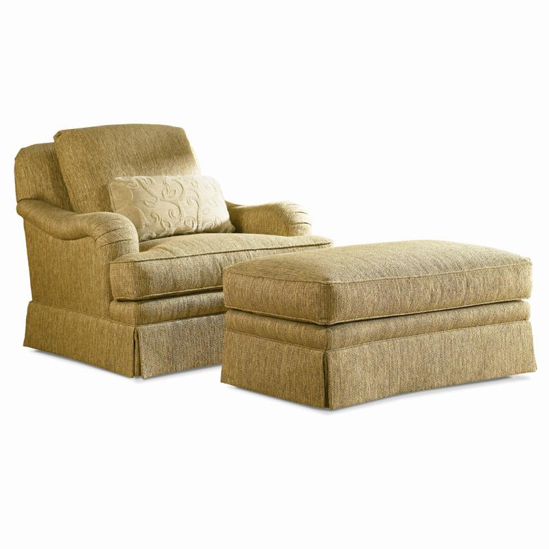 Traditional Swivel Chair & Ottoman by Sherrill at Baer's Furniture