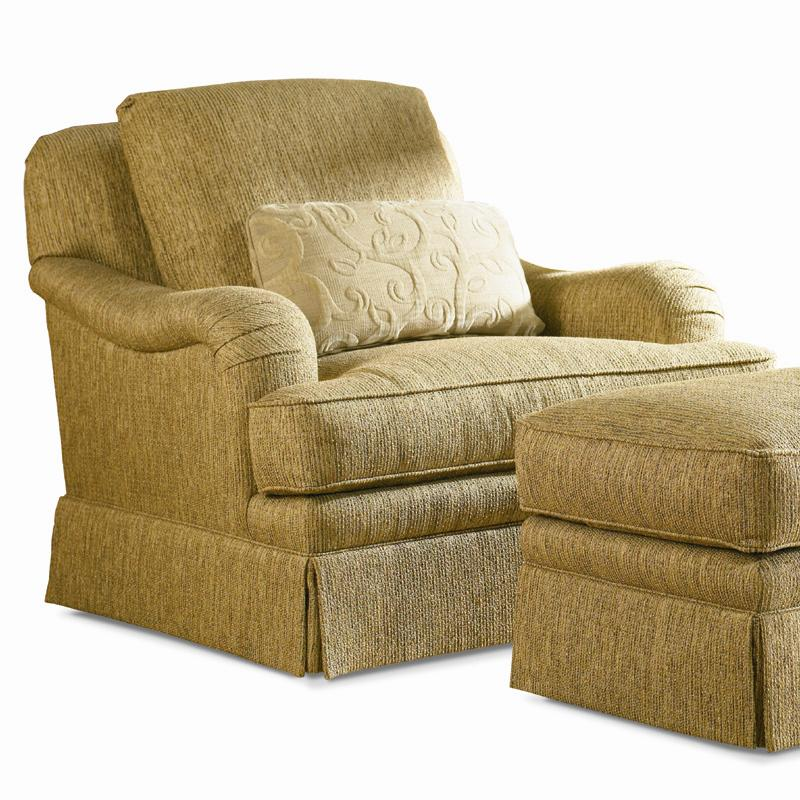 Traditional Swivel Lounge Chair by Sherrill at Baer's Furniture