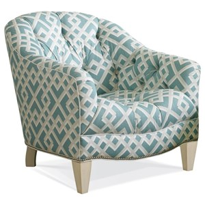 Transitional Lounge Chair with Button Tufting