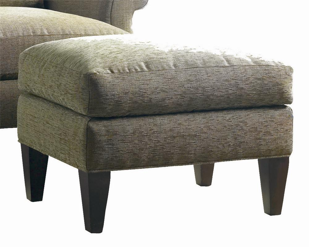 Transitional Lounge Ottoman by Sherrill at Stuckey Furniture