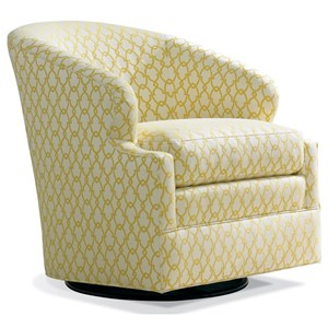 Transitional Motion Swivel Chair with Welting Detail