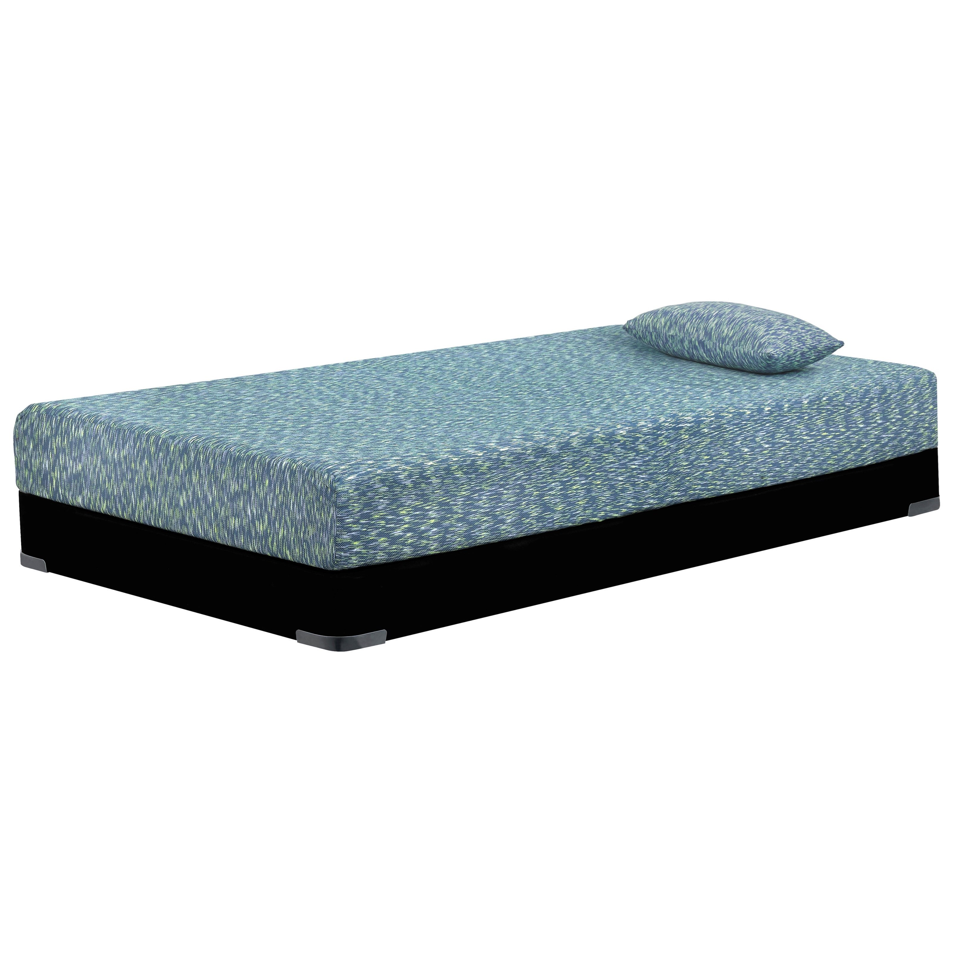 "iKidz Memory Foam Blue M658 Full 7"" Firm Blue Memory Foam Mattress Set by Sierra Sleep at Beds N Stuff"