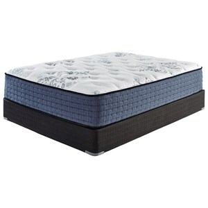 "Cal King 15 1/2"" Plush Pocketed Coil Mattress and Foundation"