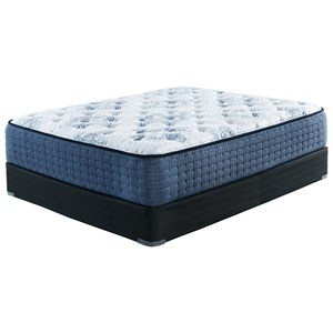 California King Plush Pocketed Coil Mattress and Foundation