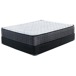 """Full 13"""" Firm Pocketed Coil Mattress and 5"""" Low Profile Solid Wood Foundation"""