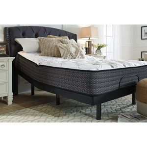 """King 13"""" Plush Pocketed Coil Mattress and Head and Foot Adjustable Base"""