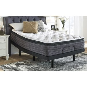 """King 14"""" Pillow Top Pocketed Coil Mattress and Good Adjustable Base"""