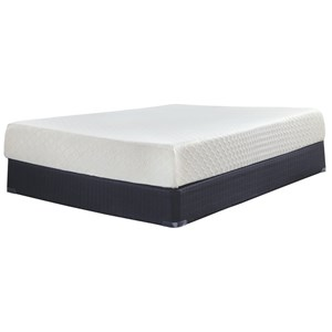 "King 10"" Memory Foam Mattress-in-a-Box and Foundation"