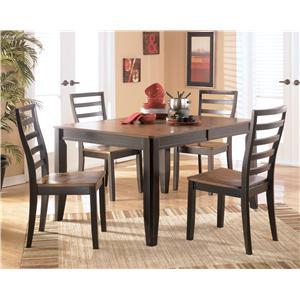 Signature Design by Ashley Alonzo 5 Piece Rectangular Table Set