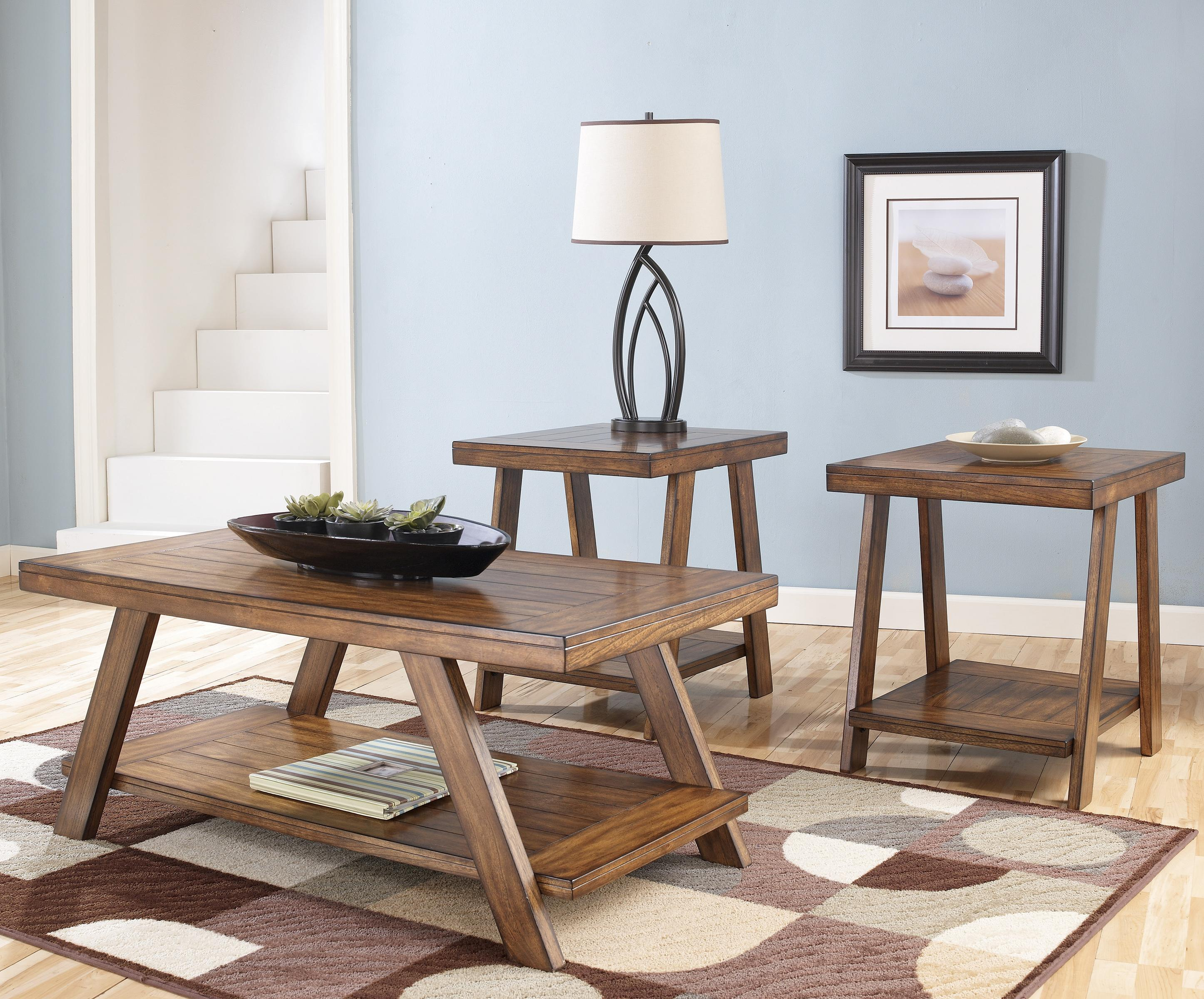 Bradley 3-in-1 Pack Occasional Tables by Signature Design by Ashley at Northeast Factory Direct