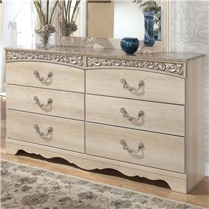 Six-Drawer Double Dresser