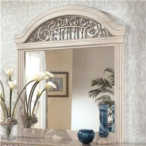Dresser Mirror with Ornate Crown