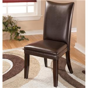 Brown Upholstered Dining Side Chair