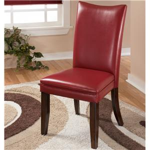Red Upholstered Dining Side Chair
