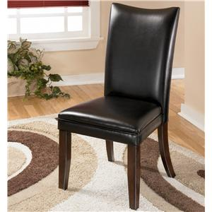 Black Upholstered Dining Side Chair