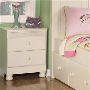 Signature Design by Ashley Cottage Retreat 2 Drawer Nightstand