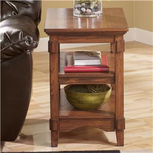 Signature Design by Ashley Cross Island Chairside End Table w/ Shelves