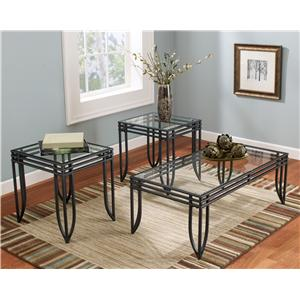 Signature Design by Ashley Exeter 3-in-1 Occasional Table Group