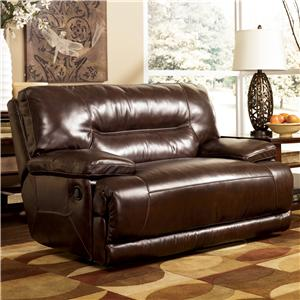 Signature Design by Ashley Exhilaration - Chocolate Zero Wall Recliner w/ Wide Seat