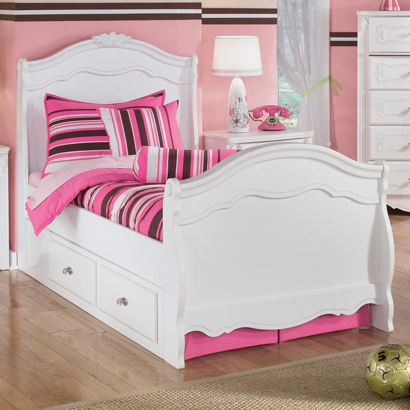 Exquisite Twin Sleigh Bed with Under Bed Storage by Ashley (Signature Design) at Johnny Janosik