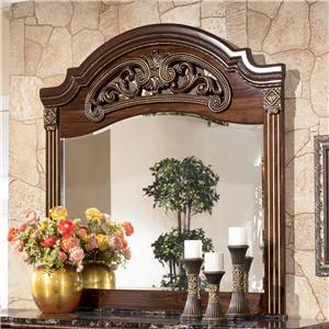 Dresser Mirror with Carved Detail