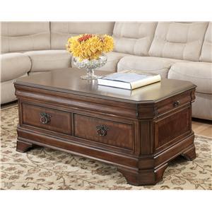 Signature Design by Ashley Hamlyn  Rectangular Lift-Top Cocktail Table