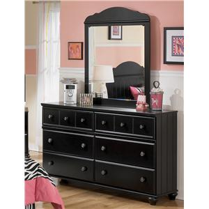 Six Drawer Youth Dresser and Mirror