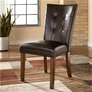 Pair of Faux Leather Tufted Upholstered Side Chair