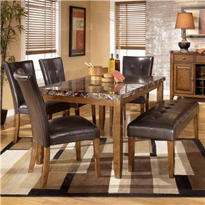 6-Piece Dining Table with Side Chairs & Bench Set