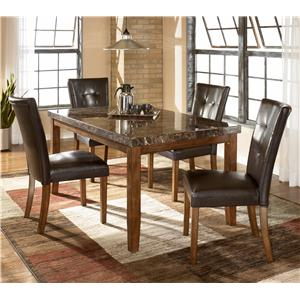 5-Piece Rectangular Dining Table & Upholstered Chair Set