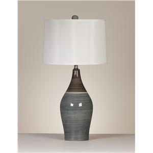 Signature Design by Ashley Lamps - Contemporary Set of 2 Niobe Table Lamps