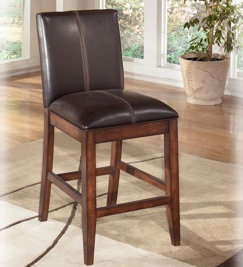 """Larchmont 24"""" Upholstered Bar Stool by Signature Design by Ashley at Lapeer Furniture & Mattress Center"""