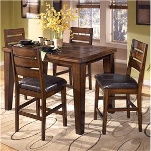Butterfly Leaf Pub Table and 4 Bar Stools