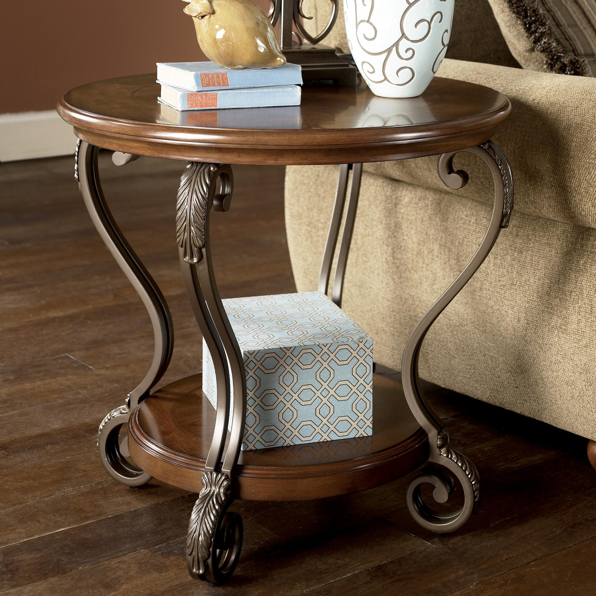 Nestor Round End Table by Signature Design by Ashley at Furniture Barn