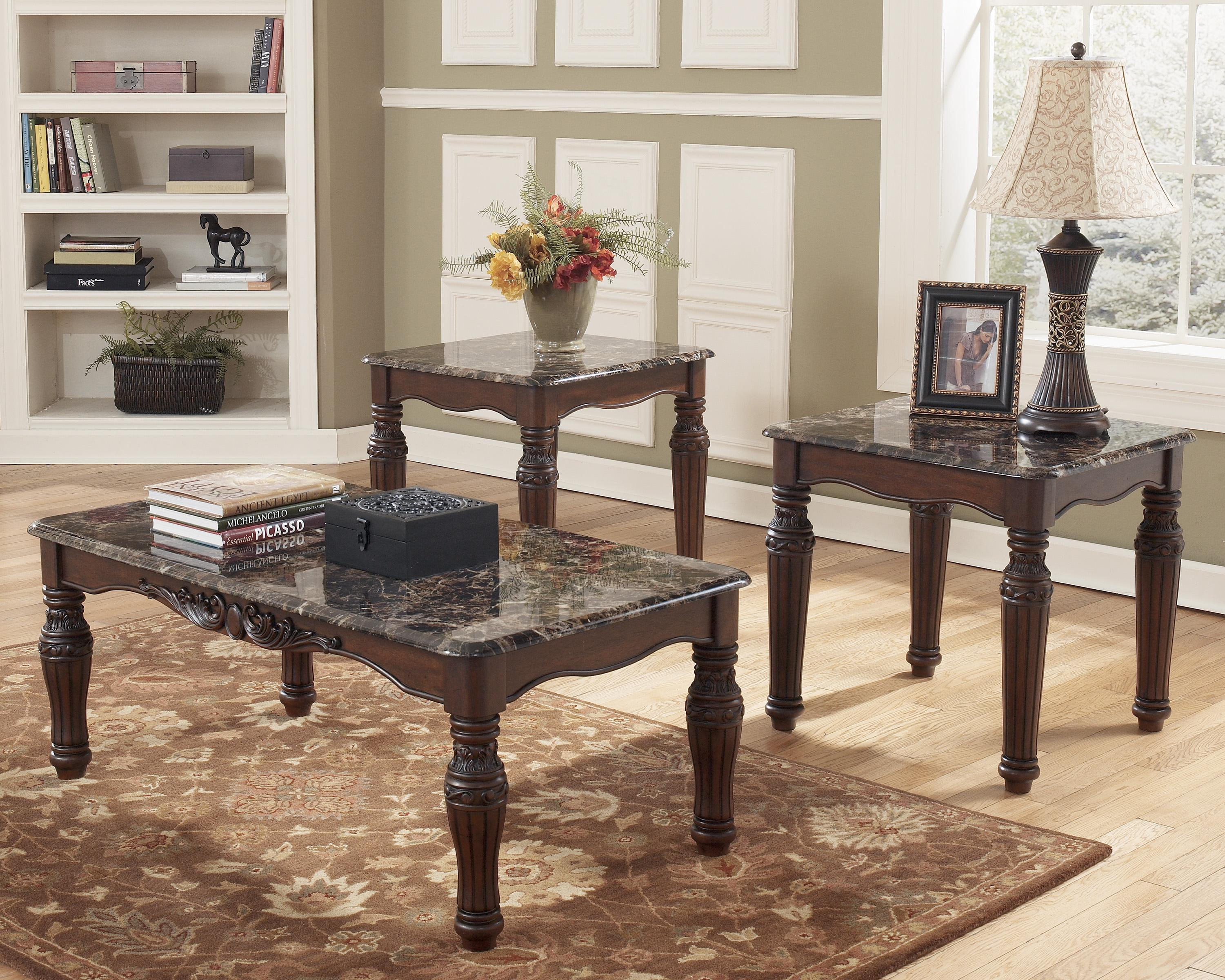 North Shore 3-in-1 Pack of Occasional Tables by Signature Design by Ashley at Beck's Furniture