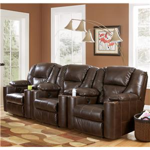 Signature Design by Ashley Paramount DuraBlend® - Brindle 3-Piece Home Theater Group