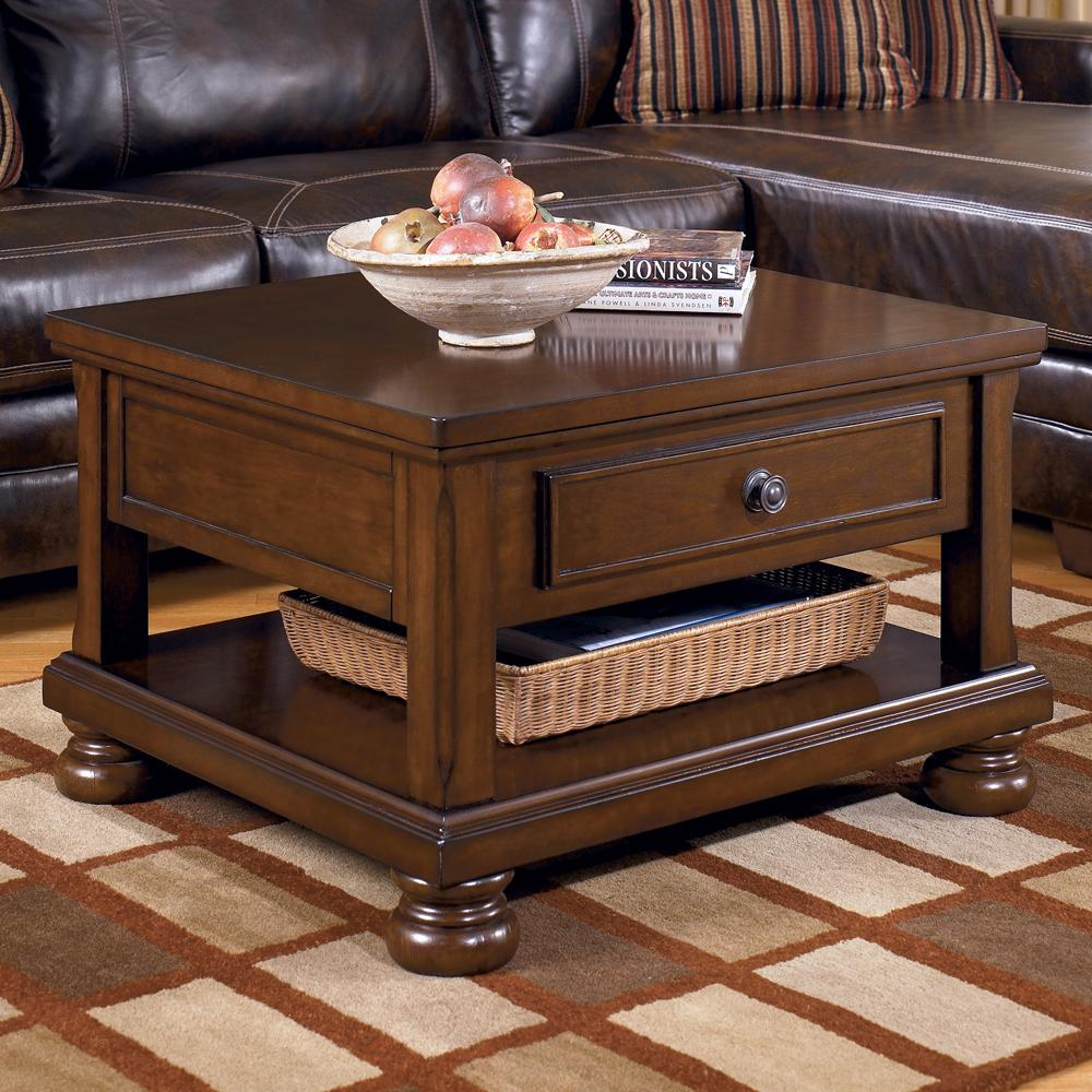 Porter Rectangular Lift Top Cocktail Table by Ashley (Signature Design) at Johnny Janosik