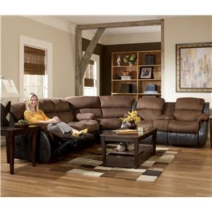 Signature Design by Ashley Presley - Espresso Upholstered Motion Sectional