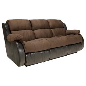 Signature Design by Ashley Presley - Espresso Upholstered Reclining Sofa
