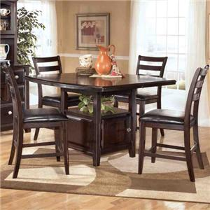 Signature Design by Ashley Ridgley 5 Piece Counter Height Table Set