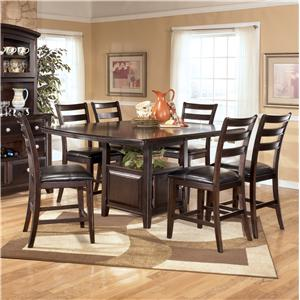 Signature Design by Ashley Ridgley 7 Piece Counter Height Table Set