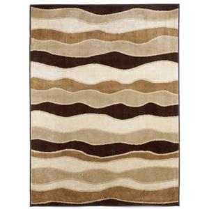 Signature Design by Ashley Contemporary Area Rugs Frequency - Toffee Rug