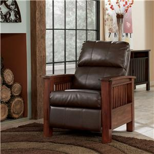 High Leg Recliner with Mission Style Arms