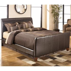 Signature Design by Ashley Stanwick Queen Faux Leather Upholstered Bed