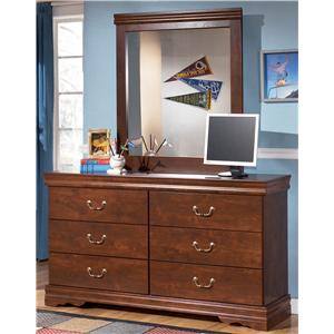 Signature Design by Ashley Furniture Wilmington Dresser and Mirror
