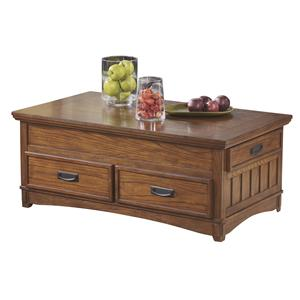 Mission Rectangular Storage Lift-Top Cocktail Table & Casters
