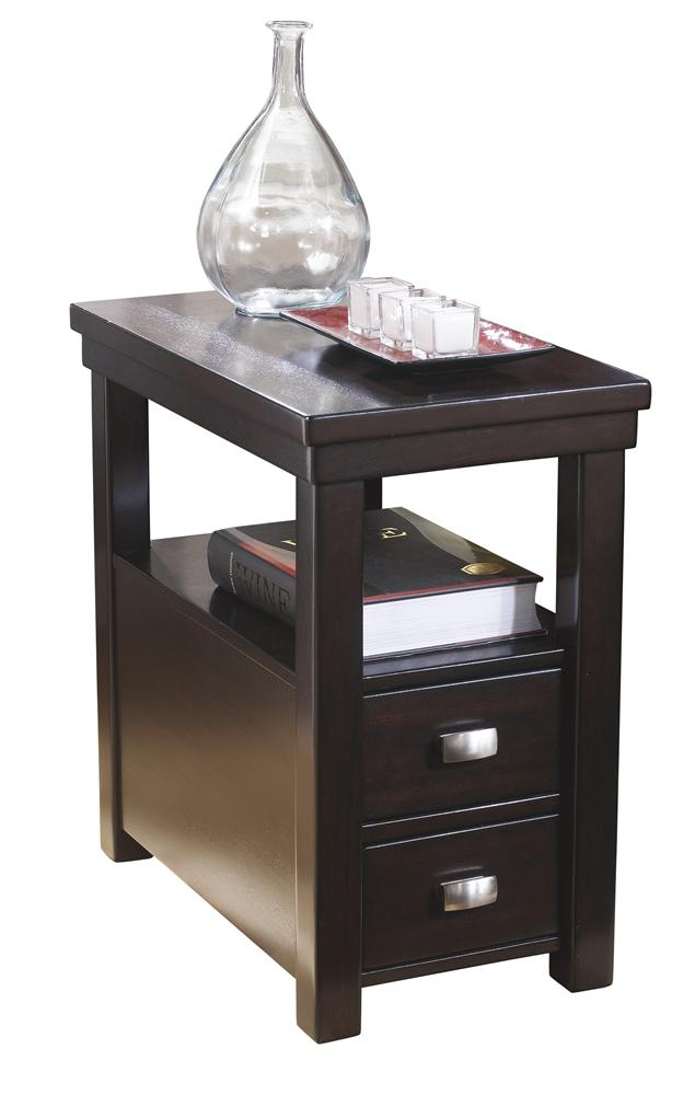 Chairside End Table with 2 Drawers & 1 Shelf
