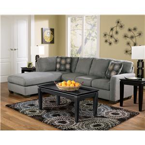 Signature Design by Ashley Furniture Zella - Charcoal Zella Living Room Group